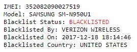 Samsung IMEI Check - Blacklist status check 2
