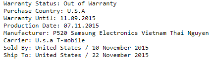 Samsung IMEI Check - Contract status check