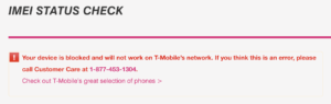 T-Mobile USA Full IMEI Check