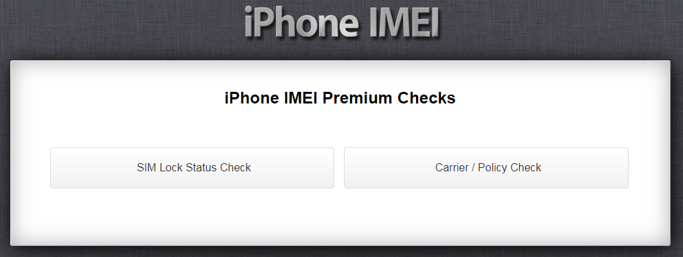 iPhone IMEI Info Carrier Policy Check