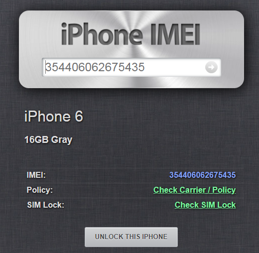 iPhone IMEI Info IMEI Check
