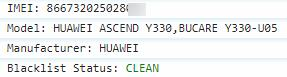 Huawei IMEI Check Blacklist Status