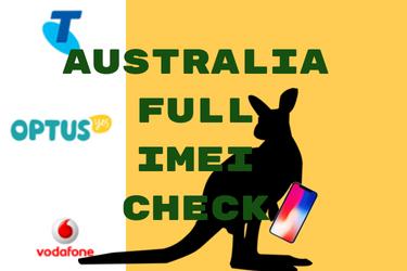 Australia Full IMEI Check vs full